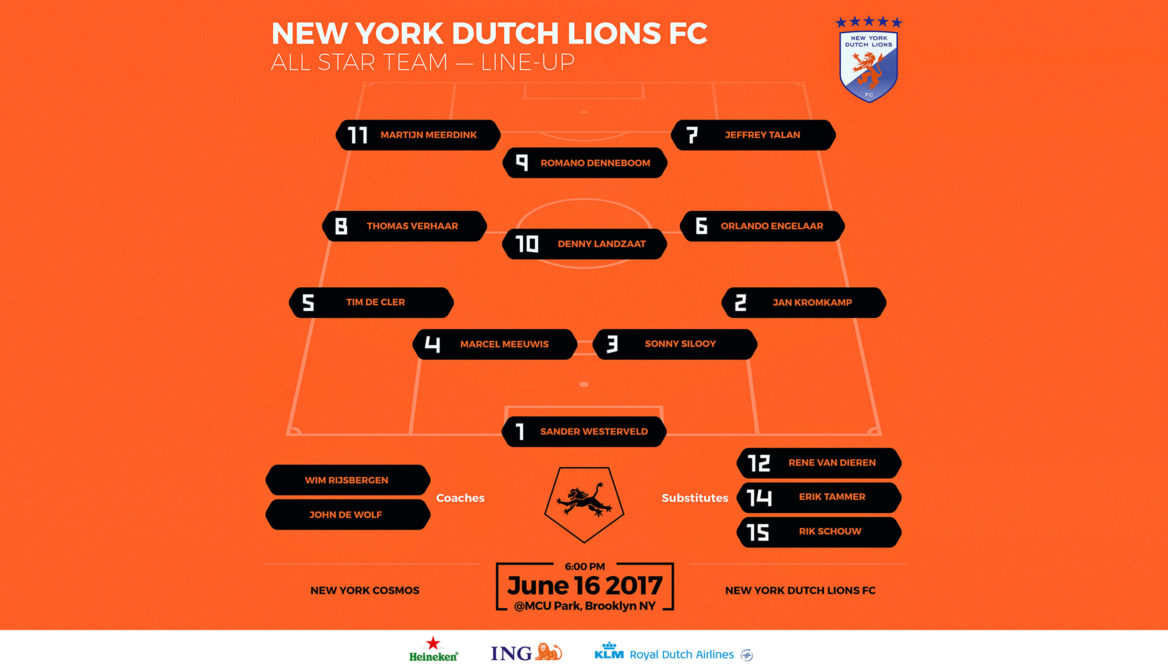 NYDL FC All Star Team starting 11